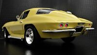 1967 Corvette 1 Chevy Vette Sport Race 18 Car  24 Carousel Yellow 12 Metal Model
