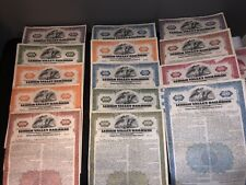 Lot of 15 LEHIGH VALLEY RAILROAD Stock Certificates Mortgage Bond