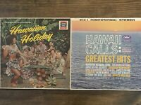 Hawaiian Vinyl LP Record Albums Lot of 2 Hawaii Calls Hawaiian Holiday Tiki Hula