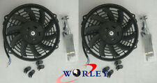 "Universal 2x 12"" 12 inch Electric cooling fan Radiator RACING + mounting kits"