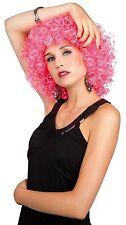 Perruque frisé rose carnaval costume fete show soirée theatre deguisement