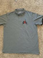 Nike Air Jordan Jumpman Classic Polo Shirt Gray Men's Size XXL CK2228 091