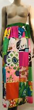 Vintage Alice Polynesian Fashions Wrap Around Patchwork Multicolor Skirt Osfa