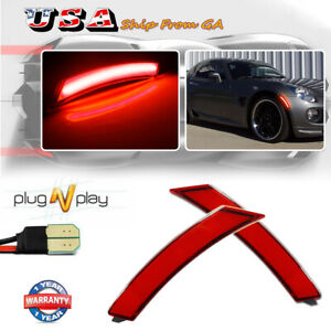 Plug & Play Red LED Front Side Marker Lamps For Pontiac Solstice & Saturn Sky