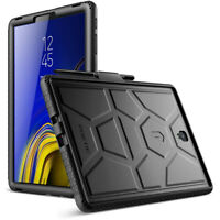 """Poetic For Galaxy Tab S4 10.5 2018 Tablet  Silicone Case """"Shockproof"""" Black"""