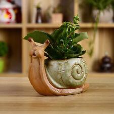 Ceramic Snail Cacti Succulent Plant Pot Flower Planter Mini Garden Design