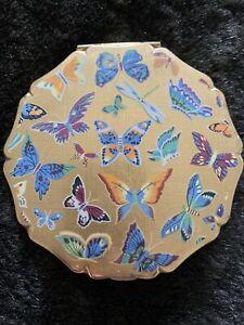 Vintage Stratton Powder Compact Butterflies