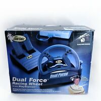 Mad Catz Dual Force Racing Wheel& Pedal Playstation ps1 ps2 Brand New RARE Sony