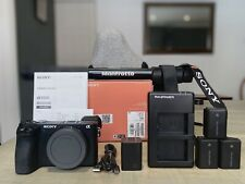 Sony a6500 mirrorless camera bundle: w/case, 3x batteries & more