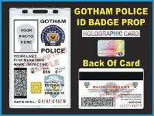 GOTHAM CITY POLICE ID Badge/ Card >CUSTOMIZABLE<  US MILITARY CAC STYLE - BATMAN