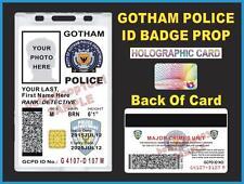 GOTHAM CITY POLICE ID Badge/ Card >CUSTOMIZABLE<  US MILITARY CAC STYLE - BATMAN