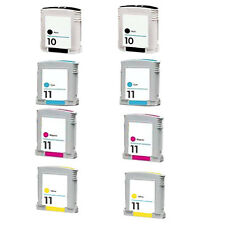 8 Compatible Ink Cartridge for HP 10 11 COLOUR InkJET CP1700 CP1700PS CP1700D