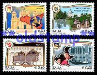 ITALIA 2004 2008 Regioni d'Italia con Bandella Stemma, Serie singole e cmpl 20v.