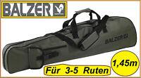 Balzer Rutentasche 1,45m 3-5 Ruten Tasche 145cm Kescher Rutenfutteral Futteral