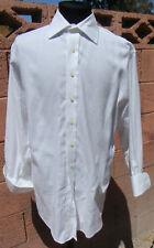 Stevens Bros Classic White Spread Collar Ridged French Cuff 16/32 Tailored Shirt