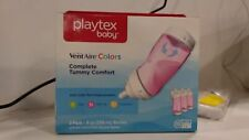 Baby Pack of 3 Playtex VentAire Advanced Bottle Pink 9 Ounce Feeding A2 AB