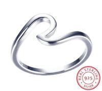 925 Sterlingsilber Ring Damen Ringe Welle Ozeanwelle Ozean 52 Filigran Silber