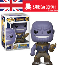 THANOS Avengers Infinity War MARVEL Vinyl Action Figure Funko POP+Box 296 DAMAGE