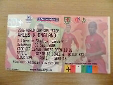 Calificador de Billetes-World Cup 2006-Gales V Inglaterra, 3 Sept 2005