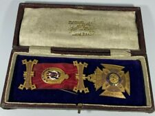 More details for 9ct gold  royal antediluvian order of buffaloes medal,anglesey lodge.33.7 grams