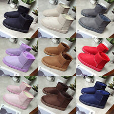 Womens Cotton Snow Short Boots Winter Warm Fur Lining Slip On Ankle Shoes Hk15