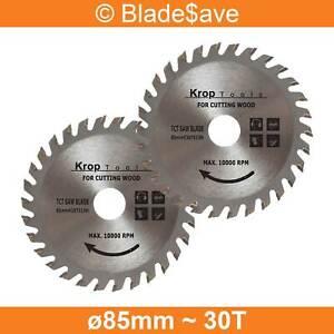 Evolution Circular Saw Blade Fine Cut TCT 85mm x 15mm x 30T by KROP (2 Pack)