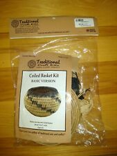 NEW in PACKAGE ~ Traditional Craft Kit Coiled Basket ~ Beginners MADE IN the USA