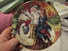 "Avon 1994 Christmas Plate, ""The Wonder of Christmas"", 22K Gold Trim In Original"