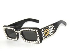 GUCCI GG0146S 0146/S 002 BLACK/GREY PEARLS 0146S*SunglaSSeS*LIMITED EDITION
