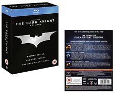 BATMAN (2005+2008+2012) BEGINS + THE DARK KNIGHT + RISES - TRILOGY  NEW BLU-RAY