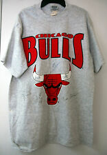 1991-1992 CHICAGO BULLS Team SIGNED T-SHIRT Large NBA Champion VTG Autograph HTF
