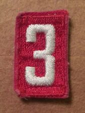 BSA RED TROOP UNIT NUMBER 3 - FULLY EMBROIDERED VERTICAL 1960's~1992  B00153A