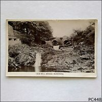 Old Mill Bridge Buncrana B&W Vintage Postcard (P448)