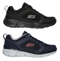 SKECHERS EQUALIZER 3 DECIMENT 52940 BBK scarpe uomo sportive sneakers camoscio