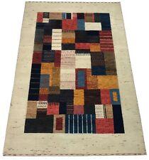Gabbeh Teppich 120X180 cm Naturfarben beige 100% Wolle Handgeknüpft Hochwertiger