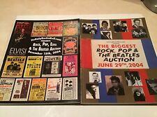 IT'S ONLY ROCK N ROLL 2 AUCTION CATALOGS-2004-BEATLES/DEAD/DYLAN/STONES Et al.