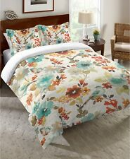 Laural Home Multicolor Watercolor Nature's Palette Birds & Floral Twin Comforter