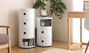 MODERN WHITE DRAWER CHEST BEDROOM FURNITURE STORAGE CABINET COMPONIBILI STYLE
