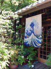 Japanese Door Curtain Tapestry Ukiyoe Hokusai The Great Wave Kanagawa Retro Deco