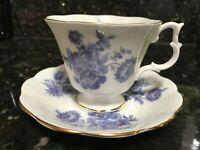 Royal Albert Un Name Series Tea Cup Saucer Bone China Gold Trim Vintage Rare