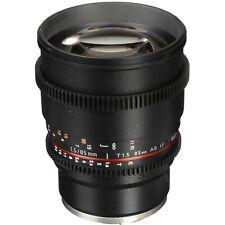 Rokinon 85mm T1.5 AS IF UMC Full Frame Cine Lens for Canon EF mount