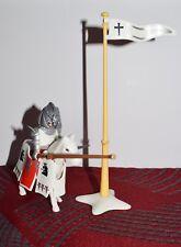 Playmobil 3699 , weißer Ritter mit Pferd, Christophorus, abgeänderte Version