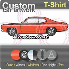 Custom T-shirt 1970 1971 71 72 73 74 75 76 Plymouth Duster 340 Twister Silver V8