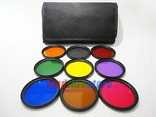 55mm 9 full color orange grey red green yellow purple blue brown pink filter kit