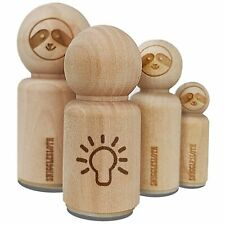 Light Bulb Idea Doodle Rubber Stamp for Stamping Crafting Planners