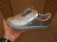 Converse Pro Leather OX PEWTER / CHATE Metal Shoes Silver SIZE 10.5  150837