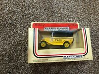 lledo models of days gone yellow taxi cab brand new in box *b*