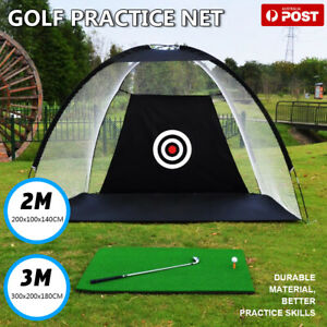 Golf Practice Net Hitting Net Driving Netting Chipping Cage Training Aid Mat AU