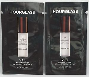 2 x hourglass 1ml veil mineral primer spf 15