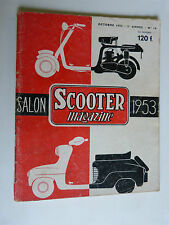 SCOOTER magazine  n° 16 SPECIAL SALON magazine de octobre 1953